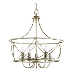 Quorum Lighting Cilia Aged Silver Leaf Pendant Light