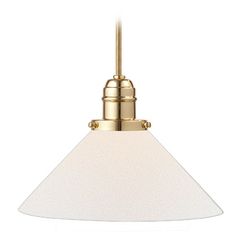 Hudson Valley Lighting Mini-Pendant Light with White Glass 3102-PB-M9