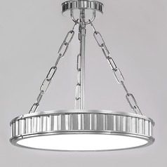 Semi-Flushmount Light in Polished Nickel Finish