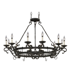 Lighted Pot Rack in Natural Iron Finish