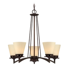 Lite Source Lighting Erina Aged Bronze Chandelier