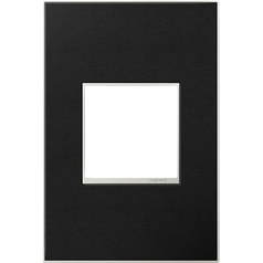 Legrand Adorne Black Leather 1-Gang Switch Plate