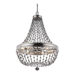 Feiss Lighting Malia Polished Nickel Pendant Light