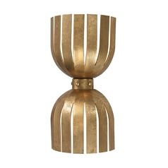 Gold Leaf Olympia Double Wall Sconce