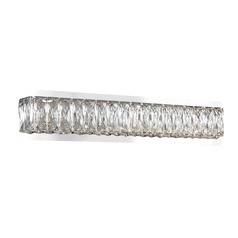 Crystal Chrome LED Bathroom Light with Clear Shade 3000K 1256LM