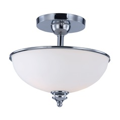 Maxim Lighting Novus Polished Chrome Semi-Flushmount Light