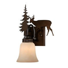Bryce Burnished Bronze Sconce by Vaxcel Lighting