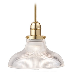 Hudson Valley Lighting Mini-Pendant Light with Clear Glass 3102-PB-R08
