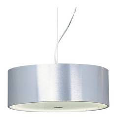 Modern Pendant Light in Brushed Aluminum Finish