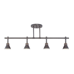 Rail Light Kit with Three Directional Shades in Bronze Finish