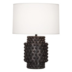Robert Abbey Dolly Gunmetal Reactive Glaze Table Lamp with Drum Shade