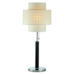 Lite Source Lighting Olina Leather Table Lamp with Drum Shade