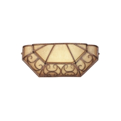 Sconce Wall Light with Amber in Burnt Umber Finish