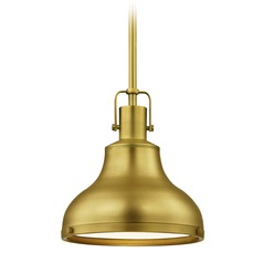 Indusrial Brass Pendant Light 8.63-Inch Wide
