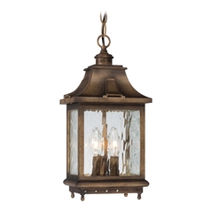 Outdoor Hanging Light with Clear Glass in Portsmouth Bronze Finish