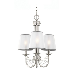 Feiss Lighting Aveline Brushed Steel Mini-Chandelier