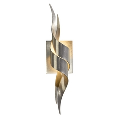 Hubbardton Forge Lighting Flux Vintage Platinum Sconce