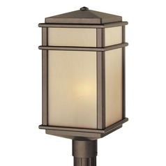Feiss Lighting Mission Lodge Corinthian Bronze LED Post Light