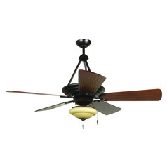 Craftmade Lighting Metro Oiled Bronze Ceiling Fan with Light