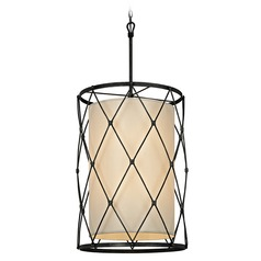 Troy Lighting Palisade Aged Pewter Pendant Light with Cylindrical Shade