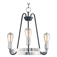 Maxim Lighting Haven Black / Satin Nickel Mini-Chandelier