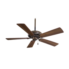 52-Inch Ceiling Fan Without Light in Belcaro Walnut Finish