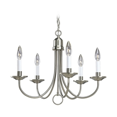 Progress Lighting Progress Chandelier in Brushed Nickel Finish P4008-09