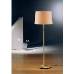 Holtkoetter Modern Floor Lamp with Beige / Cream Shades in Brushed Brass Finish