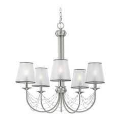 Feiss Lighting Aveline Brushed Steel Chandelier