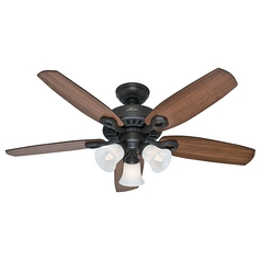 Hunter Fan Company Builder Small Room New Bronze Ceiling Fan with Light