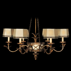Fine Art Lamps Newport Burnished Gold with Silver Highlights Chandelier