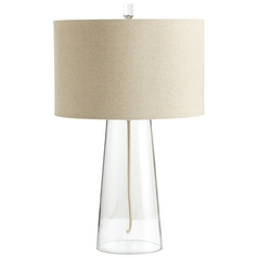 Cyan Design Wonder Clear Table Lamp with Drum Shade