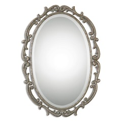 Uttermost Gwendolen Antiqued Silver Oval Mirror