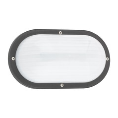 Sea Gull Lighting Bayside Black LED Outdoor Wall Light