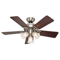 Hunter Fan Company Southern Breeze Brushed Nickel Ceiling Fan with Light