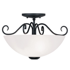 Livex Lighting Heritage Black Semi-Flushmount Light