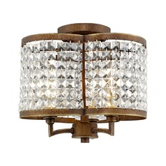 Livex Lighting Grammercy Hand Painted Palacial Bronze Semi-Flushmount Light