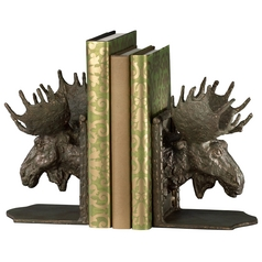 Cyan Design Moosehead Bronze Bookend