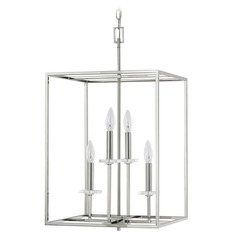 Capital Lighting Morgan Polished Nickel Pendant Light
