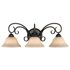Golden Lighting Homestead Rubbed Bronze Bathroom Light
