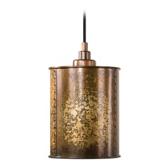 Uttermost Wolcott 1 Light Golden Mini Pendant
