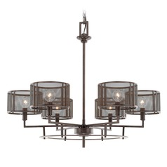 Industrial Chandelier Bronze Bennett by Capital Lighting