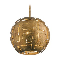 Mid-Century Modern Pendant Light Gold Shefali by Kichler Lighting