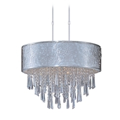 Maxim Lighting Rapture Satin Nickel Pendant Light with Drum Shade