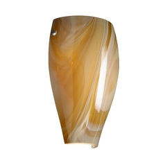 Sconce Wall Light Honey Glass. Satin Nickel by Besa Lighting