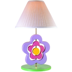 Lite Source Lighting Hippie Spinning Flower Lamp Green Accent Lamp