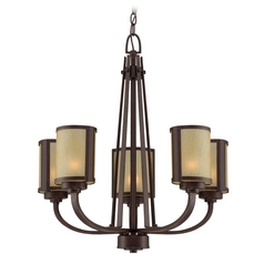 Lite Source Lighting Zerlam Aged Bronze Chandelier