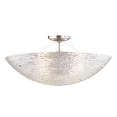 Satin Nickel Semi-Flush Ceiling Light by Tech Lighting
