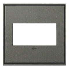 Legrand Adorne Brushed Pewter 2-Gang Switch Plate