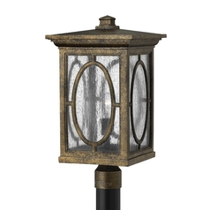 Seeded Glass Post Light Bronze Hinkley Lighting
